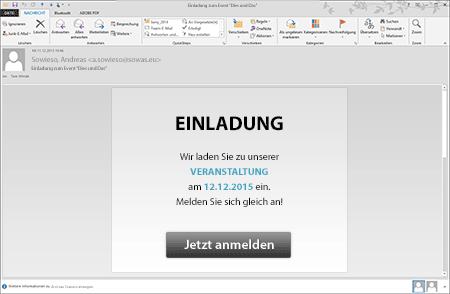 Teilnehmer-Management eMail Einladung