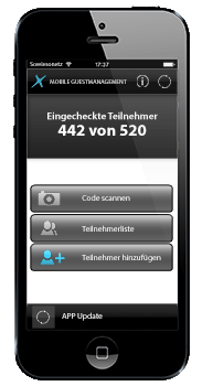 T2U Teilnehmer-Management Checkin APP